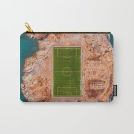 Soccer Field on a Remote Island - Aerial Photography Carry-All Pouch