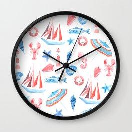 On the seaside Wall Clock