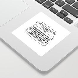 'Typewriter' Sticker