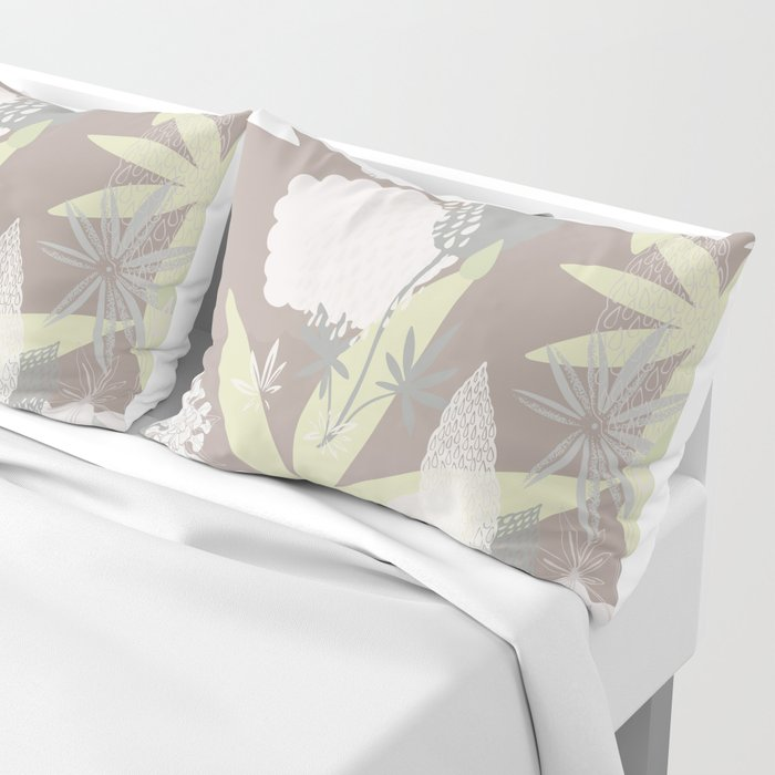 Lovely Lupins Seamless Repeating Pattern Pillow Sham