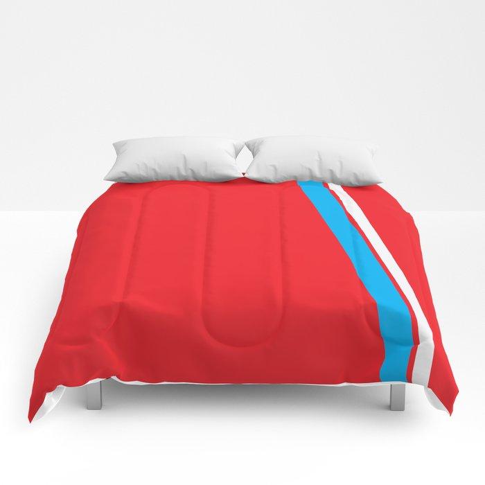 Red Slant Comforters