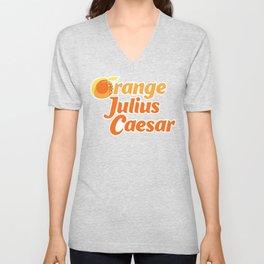 Orange Julius Caesar Unisex V-Neck