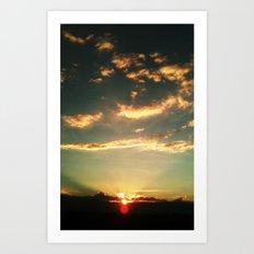 Sunset Blue Art Print