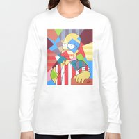 simpson Long Sleeve T-shirts featuring Homer Simpson by iankingart