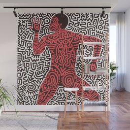 Into 84 after Keith Haring Wall Mural