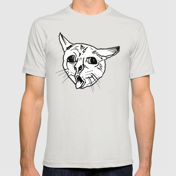 Ugly Coughing Cat Meme T-shirt by urbanart | Society6