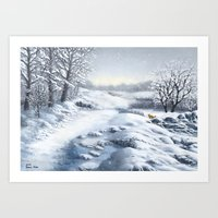 The Hills Are Alive With Snow Art Print