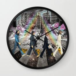 abbeyroad collage Wall Clock