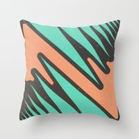 vendetta Throw Pillows featuring vendetta by Celery Woulise