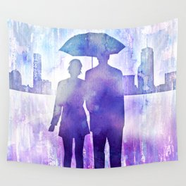 Kiss the Rain Wall Tapestry