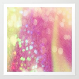 Pink And Gold Sparkle Art Print