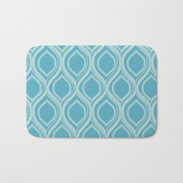 Abstract Turquoise Bath Mat