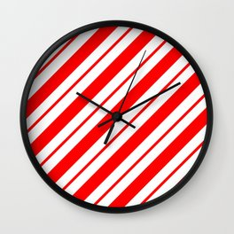 Peppermint Stripes Wall Clock