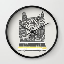 Los Angeles Cityscape Wall Clock