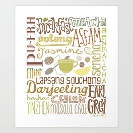 Teapography Art Print