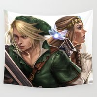 the legend of zelda Wall Tapestries featuring Legend of Zelda by KlsteeleArt