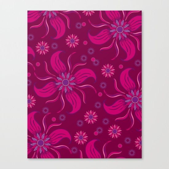 Floral Obscura Wine Canvas Print