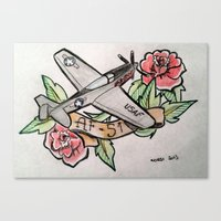 planes Canvas Prints featuring Planes by CalaelTattoo