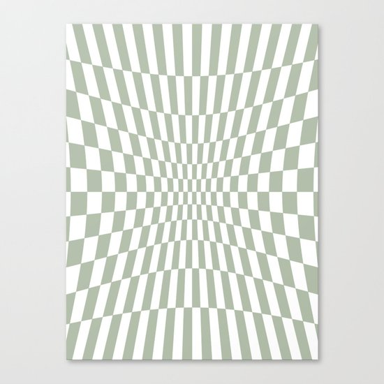 Optical Game Mint Green Canvas Print