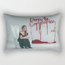 Don't Compromise, Silk Graffiti by Aubrie Costello Rectangular Pillow