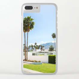 put the palm in palm springs Clear iPhone Case
