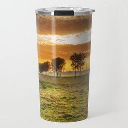 Countryside Sunset Landscape Travel Mug
