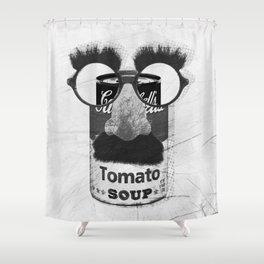 Groucho loves tomato soup Shower Curtain