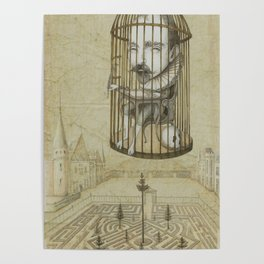 Michel Du Montaigne (1533 - 1592) An Inspirational Philosopher; Prison in the Sky Poster