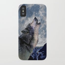 A One Wolf Moon iPhone Case