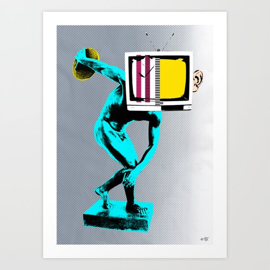 Diskus TV Art Print