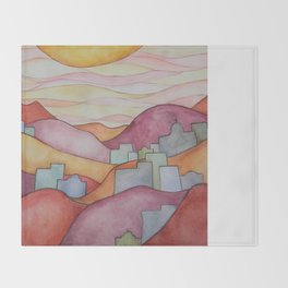 Colorful Hillsides Throw Blanket