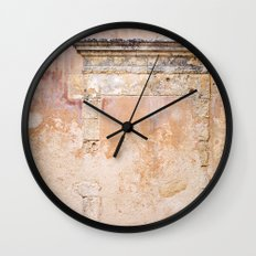 Ancient Marble Doorframe and Plaster, Crete, Greece Wall Clock