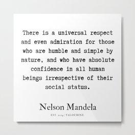 50  | Nelson Mandela  Quotes | 190818 Metal Print