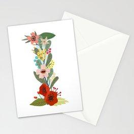 Monogram Letter I Stationery Cards