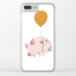 When pigs fly Clear iPhone Case