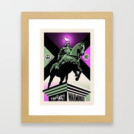 In your face warmonger Framed Art Print