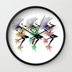 MARDI GRAS GIRLS 3 Wall Clock