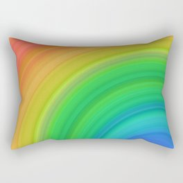 Bright Rainbow | Abstract gradient pattern Rectangular Pillow