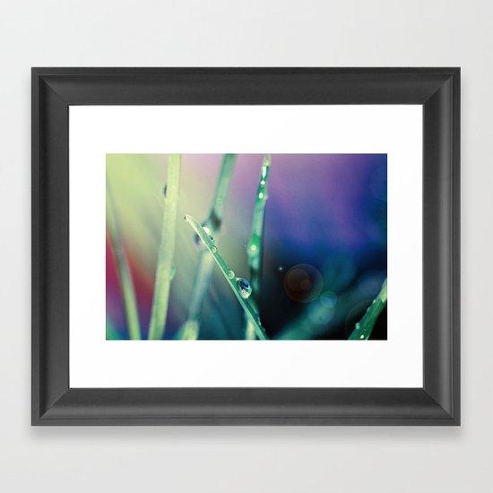 Blue Drops Framed Art Print