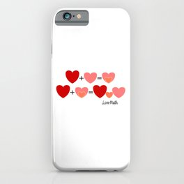 Love math, cute way to announce a pregnancy to your partner, funny baby reveal iPhone Case
