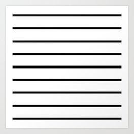 Simple Black and White Lines Decor Art Print