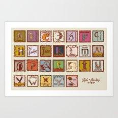 wizard alphabet Art Print