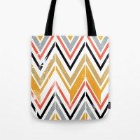 herringbone Tote Bags featuring herringbone by Emmy Winstead