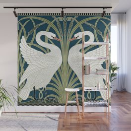 Swan Rush and Iris by Walter Crane Wall Mural