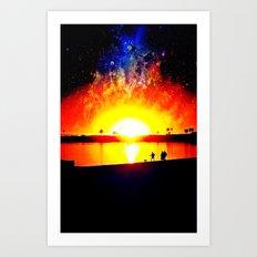 Space Walk Art Print