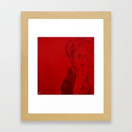 Red Lady  Framed Art Print