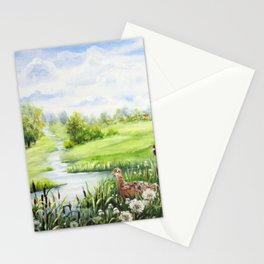 Summer Meadows And Pheasants Stationery Cards