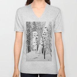 The Birches Unisex V-Neck