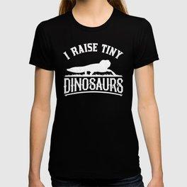 I Raise Tiny Dinosaur Vintage Retro Leopard Gecko T-shirt