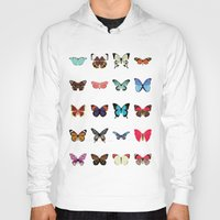butterflies Hoodies featuring Butterflies by Dorothy Leigh
